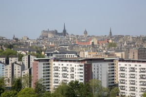 Cityscape View of Edinburgh